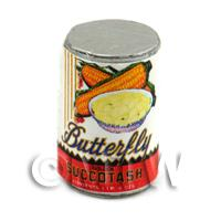 Dolls House Miniature Butterfly Brand Succotash Can (1900s)