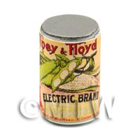 1/12th scale - Dolls House Miniature electric Brand Succotash Can (1890s)