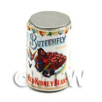 Dolls House Miniature Butterfly Brand Red Kidney Beans Can (1900s)