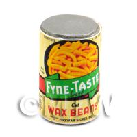 Dolls House Miniature Fyne Taste Wax Beans Can (1920s)