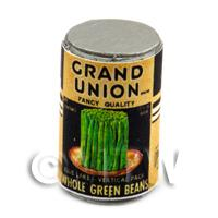 Dolls House Miniature Grand Union Brand Whole Green Beans  Can (1930s)