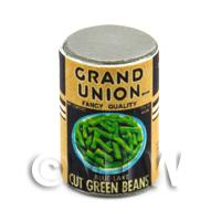 Dolls House Miniature Grand Union Brand Cut Green Beans  Can (1930s)