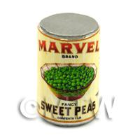Dolls House Miniature Marvel Brand Sweet Peas Can (1930s)