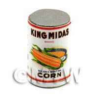 Dolls House Miniature King Midas Golden Corn Can (1920s)