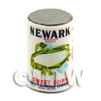Dolls House Miniature Newark Sweet Corn Can (1920s)