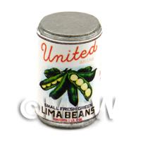 Dolls House Miniature United Brand Lima Beans Can (1930s)