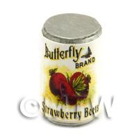 Dolls House Miniature Butterfly Brand Strawberry Beats Can (1900s)