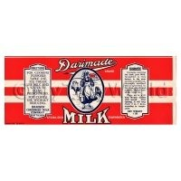 Dolls House Miniature Dalimade Brand Milk Label (1910s)