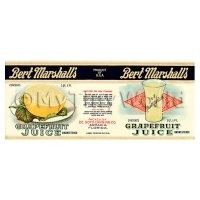 Dolls House Miniature Bert Marshalls Grapefruit Juice Label (1920s)