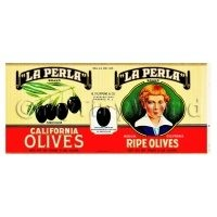 Dolls House Miniature La Perla Olives Label (1930s)