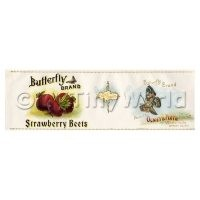 Dolls House Miniature Butterfly Brand Strawberry Beets Label (1900s)