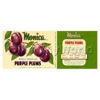 Dolls House Miniature Monica Purple Plums Label (1930s)