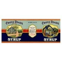 Dolls House Miniature Cross Roads Syrup Label (1920s)