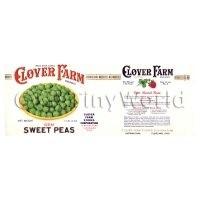 Dolls House Miniature Clover Farm Sweet Peas Label (1920s)