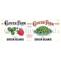 Dolls House Miniature Clover Farm Cut Green Beans Label (1920s)