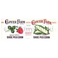 Dolls House Miniature  Clover Farm Shoe Peg Corn Label (1920s)