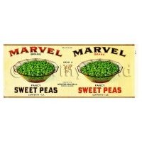 Dolls House Miniature Marvel Sweet Peas Label (1930s)