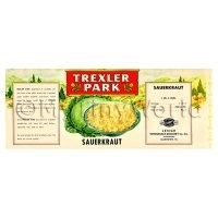 Dolls House Miniature Trexler Park Sauerkraut Label (1940s)
