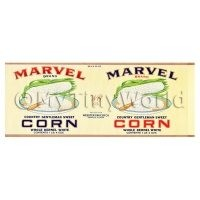 Dolls House Miniature Marvel Corn Label (1930s)