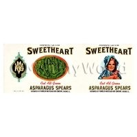 Dolls House Miniature Sweetheart Asparagus Spears Label (1930s)