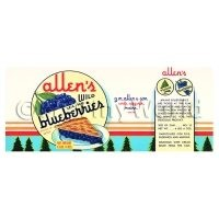 Dolls House Miniature Allens Blueberries Label (1940s)
