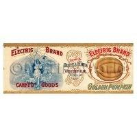 Dolls House Miniature Electric Brand Golden Pumpkin Label (1890s)