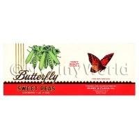 Dolls House Miniature Butterfly Brand Sweet Peas Label (1900s)