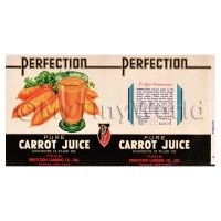 Dolls House Miniature Perfection Carrot Juice Label (1930s)