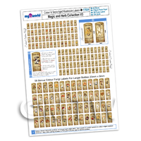 Dolls House Miniature - Dolls House Full Set of 168 Color And Sepia Fungi Label A4 Value Sheet