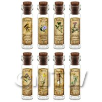 Dolls House Apothecary Long Herb Colour Label And Bottle Set 2