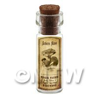 Dolls House Miniature Apothecary Lovers Kiss Fungi Bottle And Label