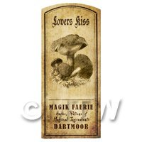 Dolls House Miniature Apothecary Lovers Kiss Fungi Label