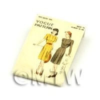 Dolls House Miniature Vogue Dress Pattern Packet (DPP070)