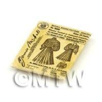 Dolls House Miniature Victorian Dress Pattern Packet (VDP004)