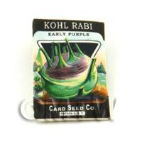 Dolls House Miniature Garden Kohl Rabi Seed Packet