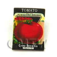 Dolls House Miniature Garden Tomato Seed Packet
