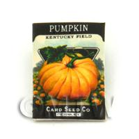 Dolls House Miniature Garden Kentucky Pumpkin Seed Packet