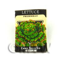 Dolls House Miniature Garden Prizehead Lettuce Seed Packet
