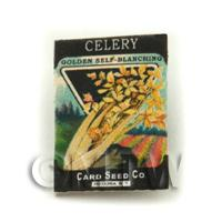 Dolls House Miniature Garden Golden Celery Seed Packet