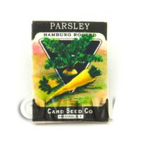 Dolls House Miniature Garden Hamburg Parsley Seed Packet