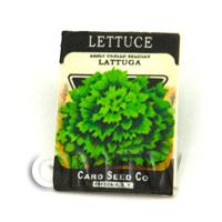 Dolls House Miniature Garden Lattuga Lettuce Seed Packet