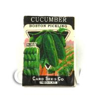 Dolls House Miniature Garden Boston Cucumber Seed Packet