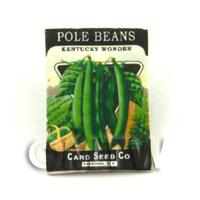 Dolls House Miniature Garden Kentucky Pole Beans Seed Packet