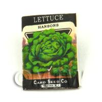 Dolls House Miniature Garden Hansons Lettuce Seed Packet