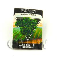Dolls House Miniature Garden Curled Parsley Seed Packet