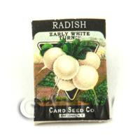 Dolls House Miniature Garden White Radish Seed Packet