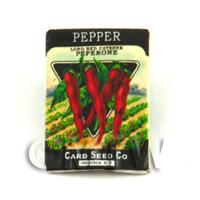Dolls House Miniature Garden Red Pepper Seed Packet