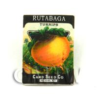 Dolls House Miniature Garden Rutabaga Seed Packet