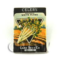 Dolls House Miniature Garden Plume Celery Seed Packet