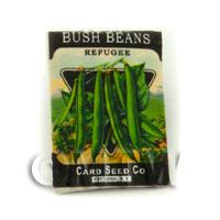 Dolls House Miniature Garden Refugee Beans Seed Packet